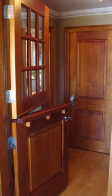 See How Dutch Doors Give Your House A Mellow Cottage Feeling: Hardwood Dutch  Door With Upper Window