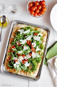 Arugula Salad Pizza | The Chic Site
