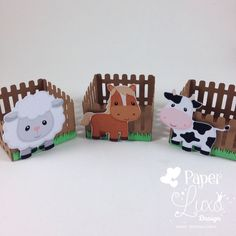 Forminha Cerquinha Fazendinha with assorted farm animals. Cow Birthday, Farm Animal Birthday, Cowgirl Birthday, 2nd Birthday Parties, Farm Animal Party, Barnyard Party, Farm Party, Farm Crafts, Craft Stick Crafts