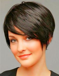 hairstyles short thick hair fat face - Google Search