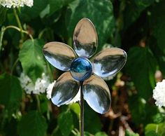 Recycled spoon flower