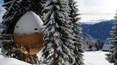 This Pinecone Shaped Treehouse Hangs Out in the Italian Alps