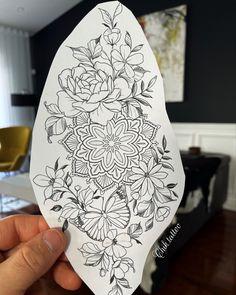 Floral Mandala Tattoo, Mandala Tattoo Sleeve, Mandala Tattoo Design, Flower Tattoo Designs, Flower Tattoo Stencils, Forearm Tattoos, Body Art Tattoos, Small Tattoos, Girl Arm Tattoos