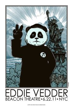 Peace panda - Eddie Vedder. Follow me for more awesome