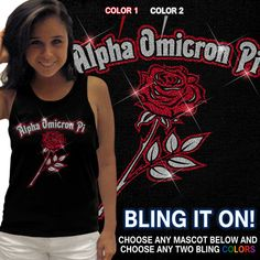 Sorority Bling Mascot Tank #sorority #clothing #custom #greek #apparel #AOII