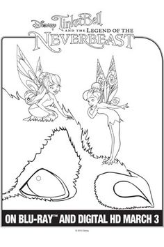 Gruff Coloring Page With Fawn And Tinker Bell