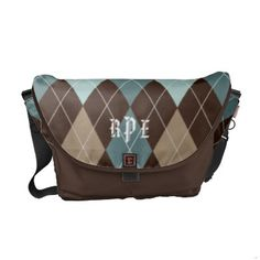 http://www.zazzle.com/chocolate_brown_and_blue_argyle_monogrammed_tote_rickshaw_messenger_bag-210027678006607348?rf=238027039487186211&CMPN=zBookmarklet