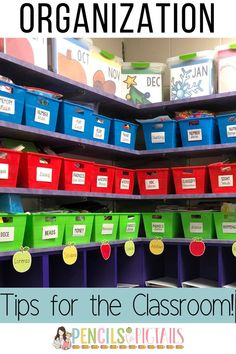 I'm sharing my best tips for teachers looking to organize their classrooms! My new way of storing my centers has changed my life and my students love it too! #classroomorganization #teachertips #teacherhacks #labels #classsroomtips