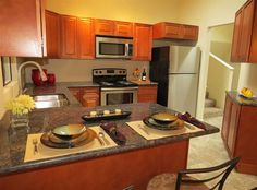 Pretty kitchen in Spokane area home for sale. Modern stainless steel updated kitchen
