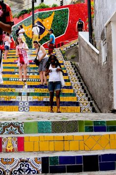 Tiled steps South America, doing this in my future house lol