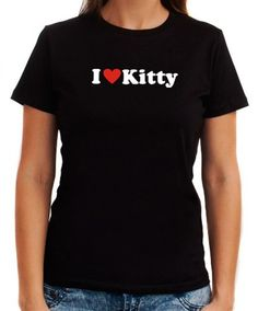 I Love Kitty Women T-Shirts