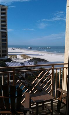 Pier 60 from the comfort of my room at the @Sandpearl Resort.