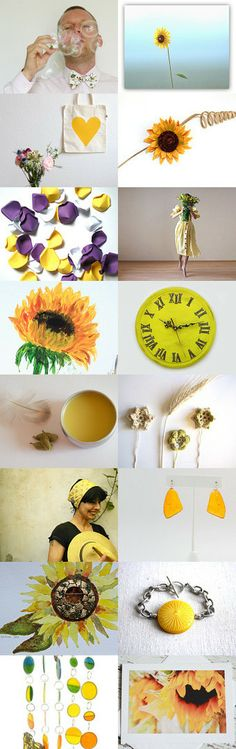 ** Sunflower Showers ** by kelly spider on Etsy