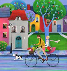 View Iwona Lifsches's Artwork on Saatchi Art. Find art for sale at great prices from artists including Paintings, Photography, Sculpture, and Prints by Top Emerging Artists like Iwona Lifsches. Caribbean Art, Cottage Art, Colorful Paintings, Naive Art, Whimsical Art, Simple Art, Painting For Kids, Art Plastique, Fabric Painting