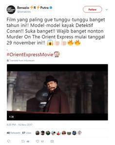 More Film yang paling gue tunggu-tunggu banget tahun ini!! Model-model kayak Detektif Conan!! Suka banget!! Wajib banget nonton Murder On The Orient Express mulai tanggal 29 november ini!! 😱👍🏻👍🏻🔥🔥  . #OrientExpressMovie