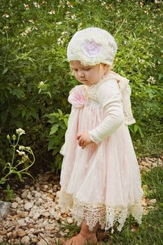Dollcake Yours Truly Lace Flower HatDress Available Too!12 Months to 5 YearsNow In Stock