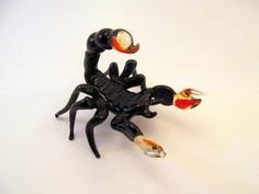 Blown Glass Scorpion Figurine Sculpture Miniature by masterglass1