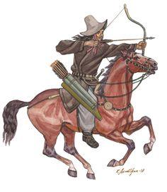Light armored Hun horsearcher 3rd - 1st century BC by Kaliolla Akhmetzhan