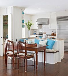 Kitchen Island with Banquette