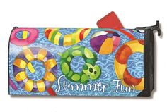 Magnet Works MailWraps Mailbox Cover - Summer Fun Design Magnetic Mail at GardenHouseFlags