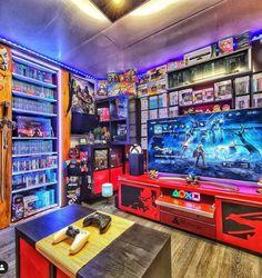 Nerd Room, Gamer Room, My Room, Hidden Gun Storage, Gun Rooms, Video Game Rooms, Game Room Design, Game Room Decor, Gaming Setup