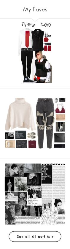 """""""My Faves"""" by emoinnuendo ❤ liked on Polyvore featuring Anthony Vaccarello, Paul Frank, Gucci, MM6 Maison Margiela, Illamasqua, Hot Topic, mcr, Mark/Giusti, Talula and Lilou"""