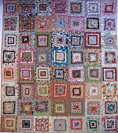 calico & ivy: the quilt Liberty Quilt, Liberty Fabric, Scrappy Quilts, Quilting, Log Cabin Quilts, Log Cabins, Watercolor Quilt, Scrap Quilt Patterns, Quilted Gifts