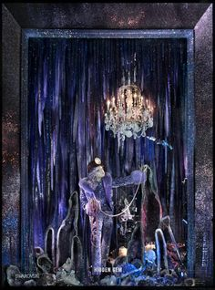 The 2015 Holiday Windows Are Here! See the Best Displays in New York City - BERGDORF GOODMAN: Brilliant, The Crystal Cavern - from InStyle.com