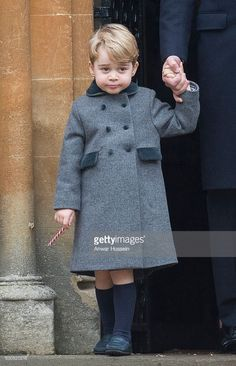 Prince George of Cambridge attends a Christmas Day service at St. Marks Church on December 25, 2016 in Englefield, England. (Photo by Anwar Hussein/WireImage)