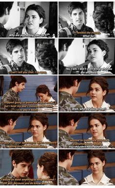 fight & reconcile 1x18 #the fosters #brallie