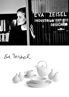 Eva Zeisel. Feeling like you are too 'old' to accomplish your dreams? Read about one of the most prolific designers Eva Zeiisel who was designing up until her death at 105 years old! A prolific career, 102 and designing for The Rug Company!