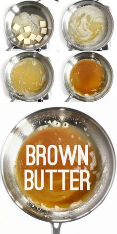 Brown Butter is the liquid gold that makes a recipe pop. Here is a simple step b… Brown Butter is the liquid gold that makes a recipe pop. Here is a simple step by step tutorial on how to make brown butter. Chimichurri, Cooking 101, Cooking Recipes, Cooking Classes, Cooking School, Paleo Recipes, Cooking Photos, Cooking Pasta, Cooking Steak