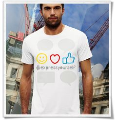 Express yourself ;) T-Shirt für Männer ( Fair, Öko und Bio ) Express yourself ;) T-Shirt for men ( Fair, Eco and Organic ) / print / tshirts / shirts / Shirt / T-Shirt /  tshirtsLove / mode / Fashion. #smile #highthumb #like #love #hashtag #expressyourself #emoji #fairtrade #fairwear #fairfashion #slowfashion #ethicalfashion #nachhaltig #sustainable #ecofashion #fashionblogger #slowfashionblogger #Männergeschenke #bblogger #greenbblogger #greenliving #grünemode #bio #organic