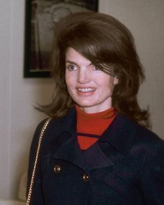 Jackie Kennedy Onassis at JFK Airport in New York on March 1, 1970.