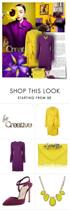 """""""Be creative"""" by anna-survillo ❤ liked on Polyvore featuring Poesia, Letter2Word, Victoria, Victoria Beckham, Elie Saab, Maison Du Posh, Manolo Blahnik and Tom Ford"""
