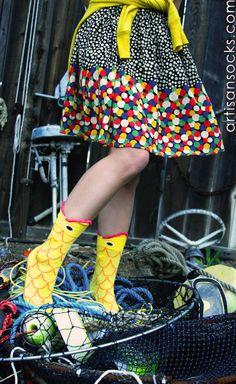 Womens//Girls Shark Sharks Pattern Red Mouth Summer Casual Socks Dresses Over The Knee High Socks 23.6