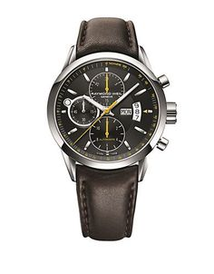 Raymond Weil Mens Stainless Steel Mechanical Chronograph Watch with Le