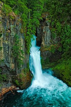 Toketee Falls, Oregon. After a good rain!