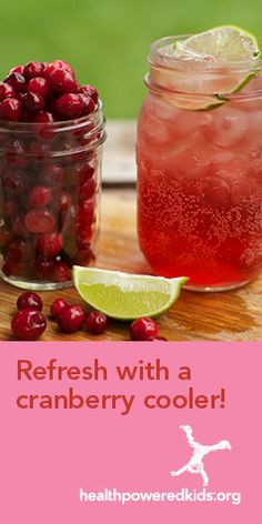 Skip the sugary soda and sports drinks – kids will enjoy this sparkling treat on a warm day. Link to recipe: http://www.allinahealth.org/Health-Conditions-and-Treatments/Eat-healthy/Recipes/Beverages/Cranberry-coolers/