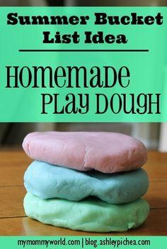 Homemade PlayDough   a Summer Bucket List idea from blog.ashleypichea.com