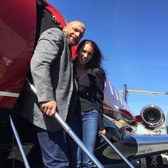 WWE Champion Triple H and Stephanie McMahon before heading to Dallas for WrestleMania 32 #WWE #wwecouples #powercouple #WrestleMania