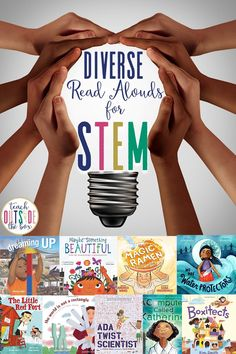 25 STEM Picture Books for Elementary students with Diverse Characters - Simple STEM Connections for each book | STEM Activities for kids | Multicultural STEM Picture Books