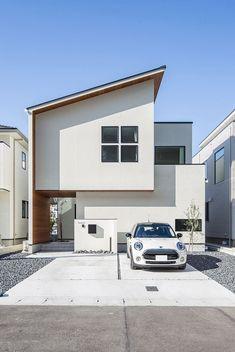 Japan House Design, House Front Design, Small House Design, Minimal House Design, Minimal Home, Townhouse Designs, Dream House Exterior, Facade House, Architecture Design