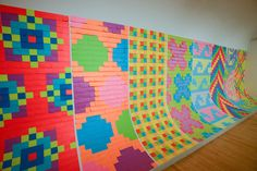 Giant murals for all of the new Post-it® Notes new color collections.