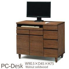 Nordic Desk O 095木製PCデスクプリンター収納キャビネット北欧lvwaty インテリア 雑貨 家具 Modern ¥23939yen 〆05月16日