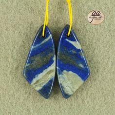 EA12726  Beautiful Lapis Lazuli Earrings Bead by Artiststone