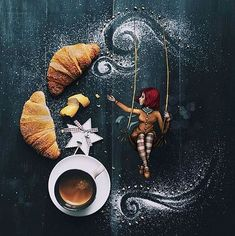 Awakening in a sweet scented breeze. So it should be every morning, because the world crouches at the feet of those who wake up happy. Good Morning Coffee, Coffee Break, I Love Coffee, My Coffee, Coffee Cafe, Coffee Shop, Coffee Lovers, Coffee Photography, Food Photography