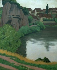 Titolo dell'immagine : Felix Vallotton - F.Vallotton / Landscape near Semur