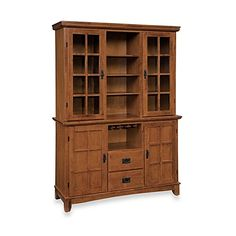 Home Styles Arts Crafts Wood Buffet With Hutch In Oak