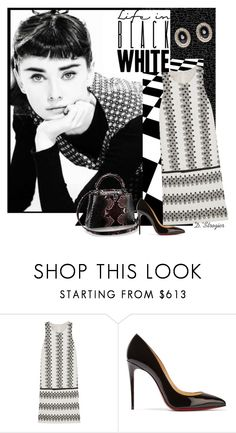 """""""Audrey"""" by deborah-strozier ❤ liked on Polyvore featuring Giambattista Valli, Christian Louboutin, Givenchy and graduationdaydress"""